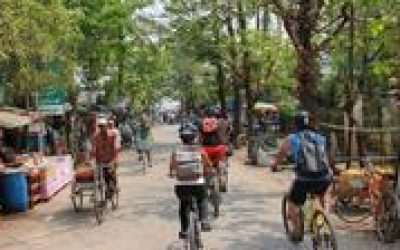Discovery Bike Tour to Kanaungto River Island in Yangon