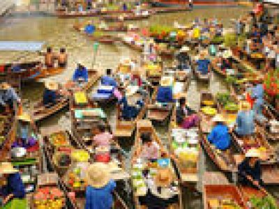 Floating Market of Damnoen Saduak Tour from Bangkok