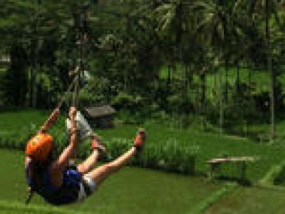 Flying Fox and White Water Rafting Adventure in Bali