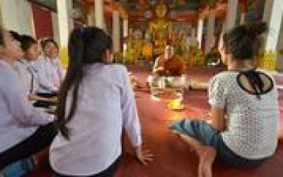 Wat Sok Pa Luang Temple Experience Including Traditional Sauna from Vientiane